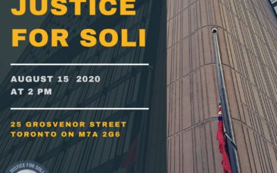 Come to The Justice For Soli Rally